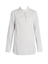 Tibi Samuel Open Back Shirt White Multi