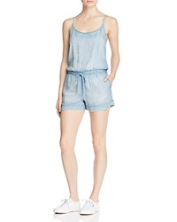 Bella Dahl Chambray Romper Light Mist Wash
