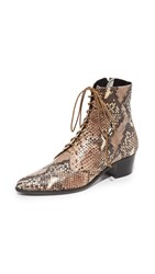 The Archive Barrow Lace Up Booties Snake