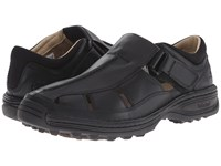 Timberland Altamont Closed Toe Closed Back Fisherman Black Smooth Men's Shoes