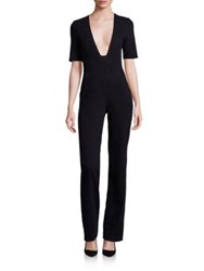 3X1 Deep V Neck Jumpsuit