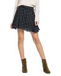 Scotch And Soda Belted Abstract Print Mini Skirt Combo B