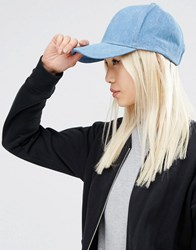 Asos Denim Baseball Cap Blue