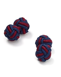The Men's Store At Bloomingdale's Round Knot Cufflinks Navy Burgundy