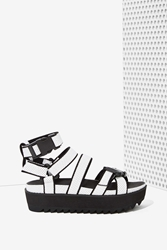 Nasty Gal Intentionally Blank React Perforated Leather Sandal