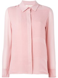 Tory Burch Concealed Fastening Shirt Pink And Purple