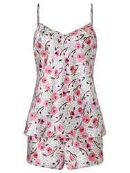 Alice By Temperley Somerset By Alice Temperley Floral Animal Cami Set And Short Pyjama Set Pink Multi