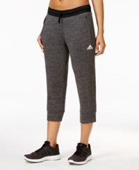 Adidas Fleece Cropped Sweatpants Pepper Black