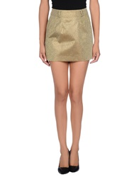 Silvian Heach Mini Skirts Gold