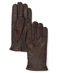 The Men's Store At Bloomingdale's Cashmere Lined Leather Gloves Brown