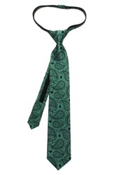 Boy's Cufflinks Inc. 'Star Wars Yoda Paisley' Zipper Silk Tie