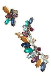 Marchesa Women's Mismatched Cluster Crystal Earrings
