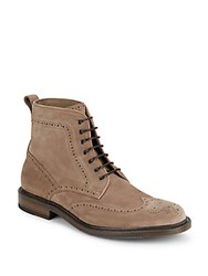 Aquatalia By Marvin K Leather Ankle Boots Dark Taupe