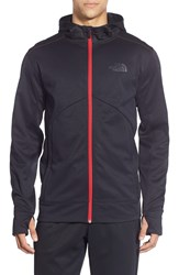 The North Face 'Ampere' Zip Front Fleece Hoodie Tnf Black Tnf Red