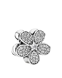 Pandora Design Pandora Charm Sterling Silver And Cubic Zirconia Dazzling Daisy Moments Collection Silver Clear