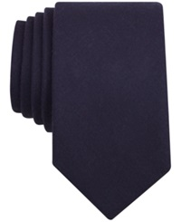 Bar Iii Carnaby Firth Solid Skinny Tie Navy