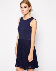 B.Young Macy Lace Skater Dress With Cut Out Back Parisiannight