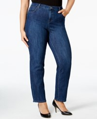 Styleandco. Style Co. Plus Size Tummy Control Straight Leg Jeans Only At Macy's Indigo Wash