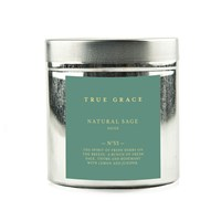 True Grace Walled Garden Candle In Tin Sage