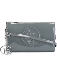Armani Jeans Embossed Logo Clutch Grey