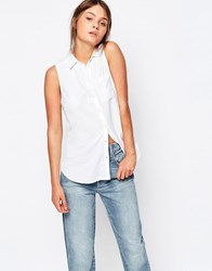 New Look Sleeveless Shirt White