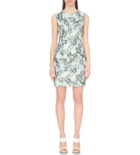 Reiss Kim Embroidered Dress Soft Green