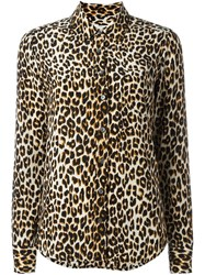 Equipment Leopard Print Shirt Brown