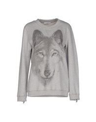 Diesel Topwear Sweatshirts Women Light Grey