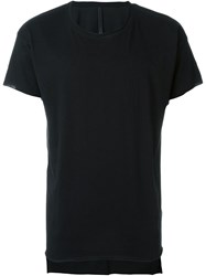 Barbara I Gongini Drop Tail T Shirt Black