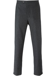 Moncler Gamme Bleu Snap Button Detail Trousers Grey