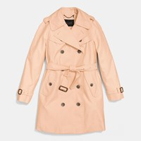 Coach Mid Length Trench Apricot