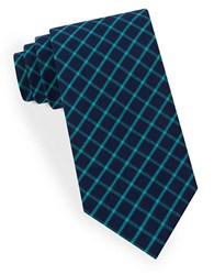 Lord And Taylor Negative Grid Tie Teal