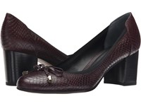 Franco Sarto Republic Aubergine Women's Slip On Dress Shoes Purple