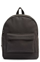 Amici Accessories Faux Leather Backpack Black
