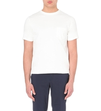 Beams Plus Patch Chest Pocket T Shirt White