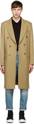 M.R. Editions Camel Double Breasted Coat