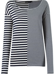 Giuliana Romanno Longsleeved Striped Blouse White