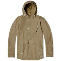 Nigel Cabourn Cropped Cwp Jacket Brown