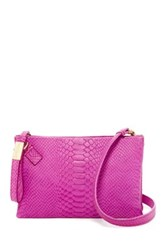 Foley Corinna Cache Day Convertible Leather Clutch Pink