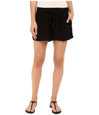 Splendid Rayon Voile Tie Shorts Black Women's Shorts