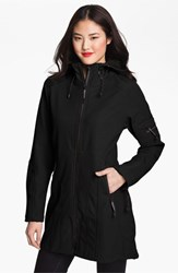 Women's Ilse Jacobsen Hornbaek 'Rain 7' Hooded Water Resisant Coat Black