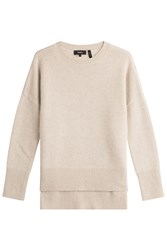 Theory High Low Cashmere Pullover Beige
