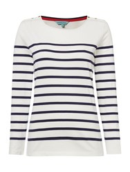 Dickins And Jones Breton Stripe Top Multi Coloured