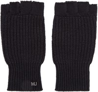 Marc By Marc Jacobs Black Knit Fingerless Gloves