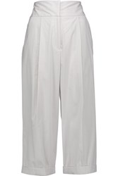Milly Cotton Blend Culottes Light Gray