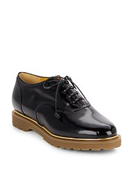 Charlotte Olympia Stefania Patent Leather Oxfords Black