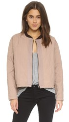 Free People Quilted Liner Jacket Blush