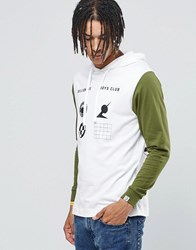 Billionaire Boys Club Hooded Long Sleeve T Shirt White Olive