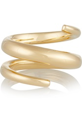 Jennifer Fisher Twisted Cylinder Gold Plated Ring