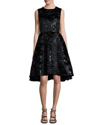 Co Sleeveless Sequined Jacquard Party Dress Black
